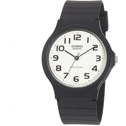 Casio Men's Resin Strap Analog Watch, Black