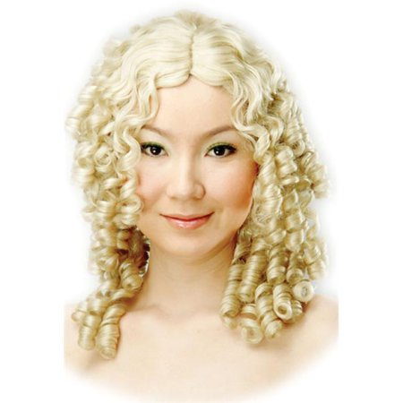 blonde curly ringlets wig - Blonde Curly Wig