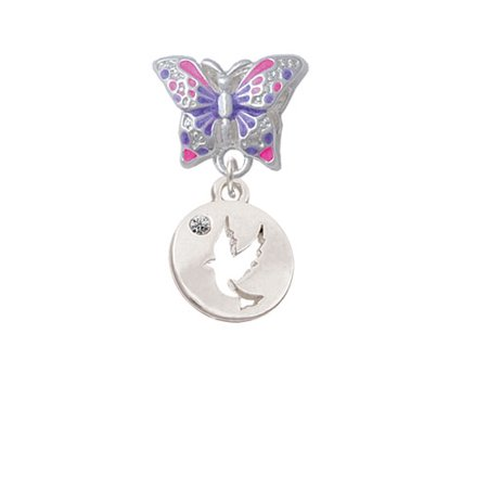 Dove Disc - Butterfly Charm Bead