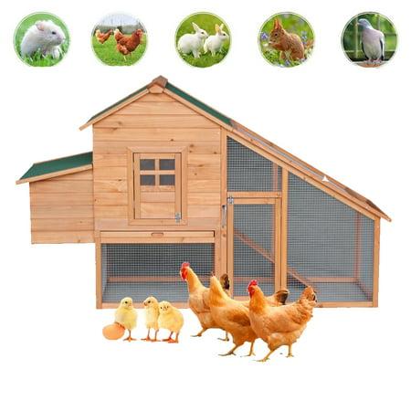 Zimtown Large Chicken Coop 75 Backyard Wooden Chicken Coop Hen