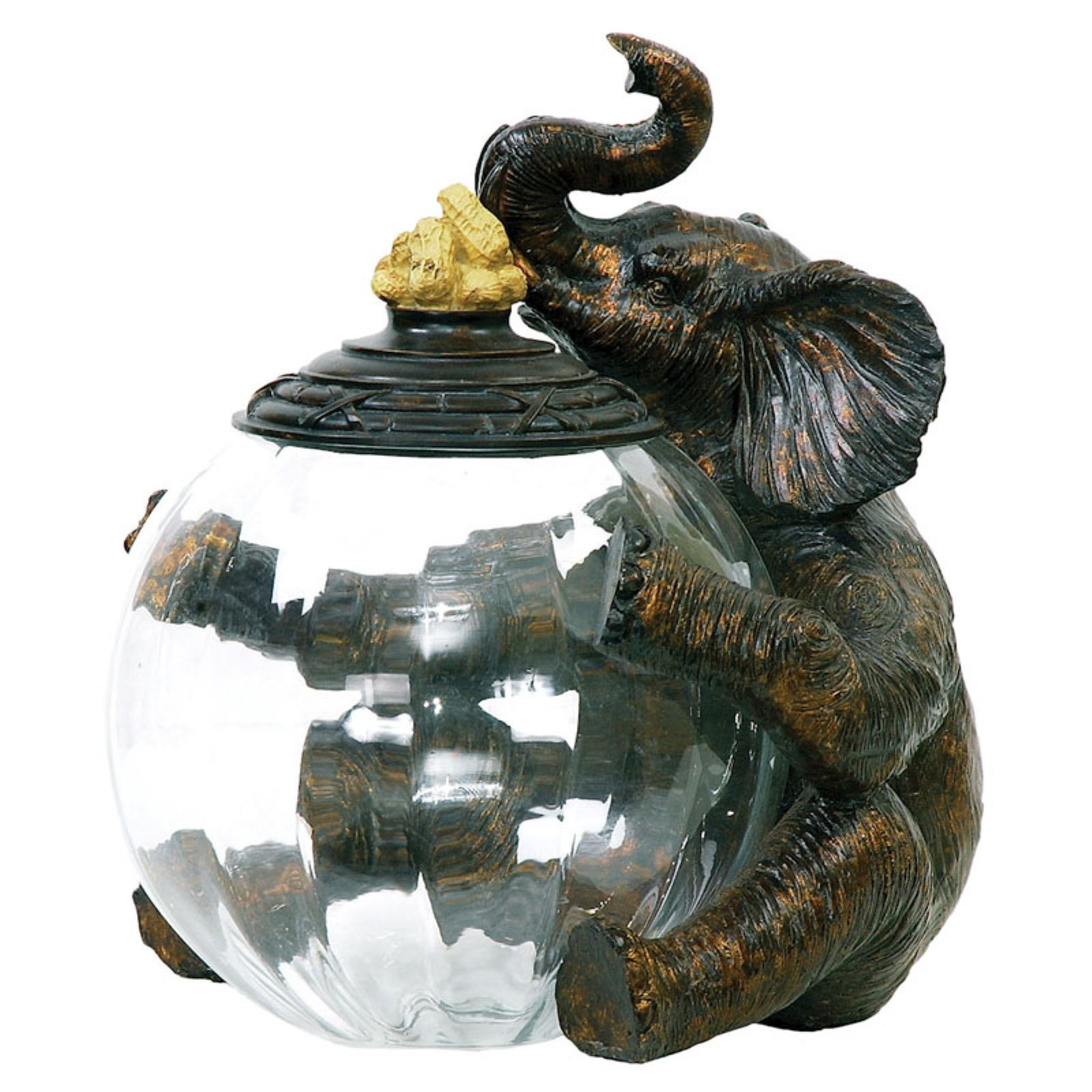 Elk Lighting Elephant Glass Storage Jar