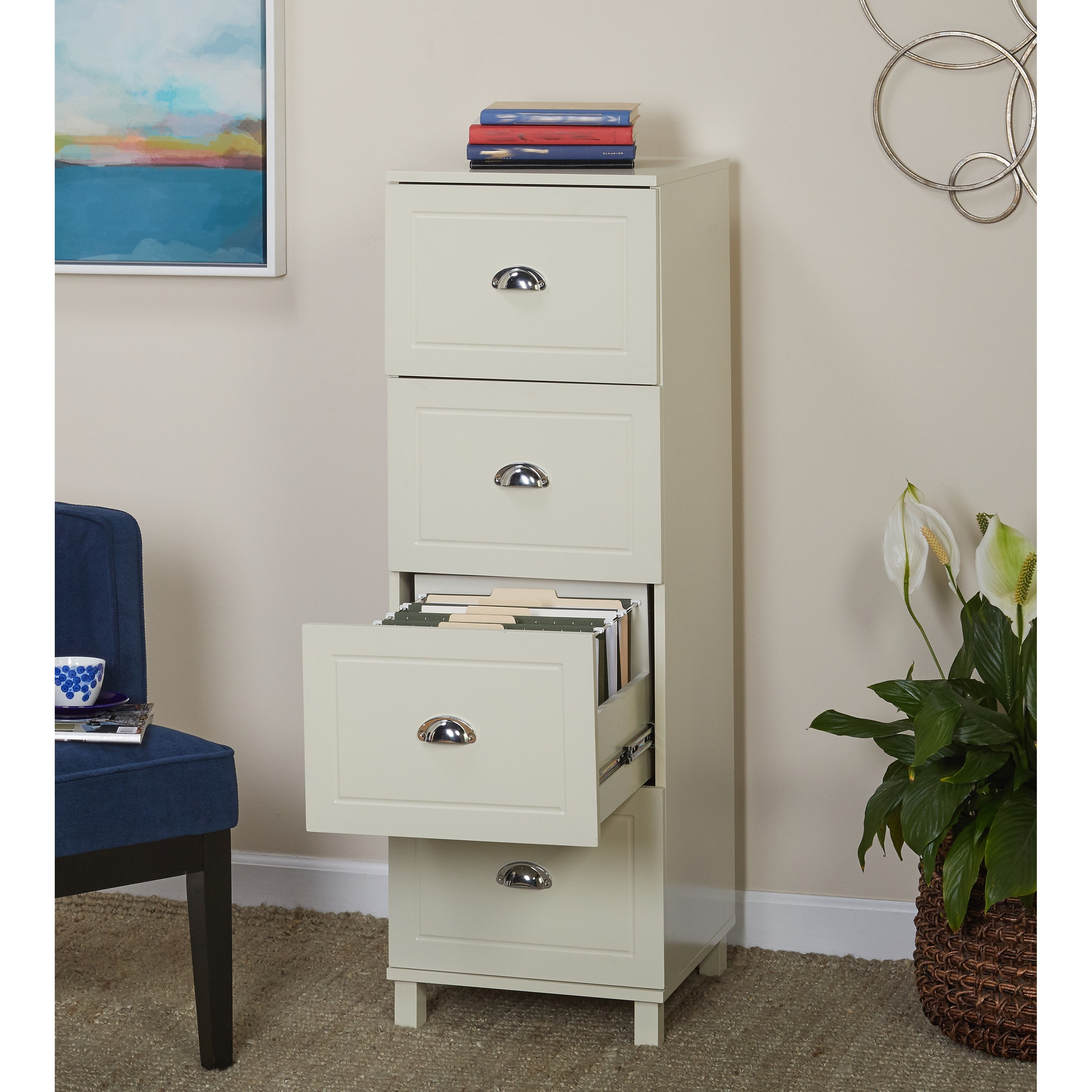 Image of: Bradley 4 Drawer Vertical Wood Filing Cabinet White Walmart Com Walmart Com