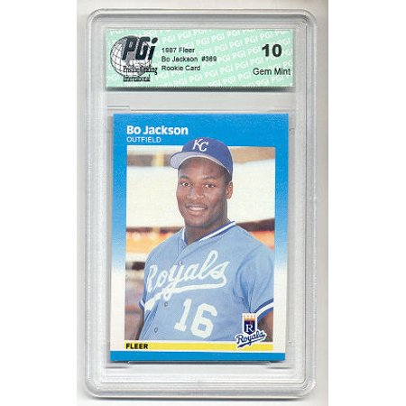 1987 Fleer Bo Jackson Baseball Rookie Card Pgi 10 Kansas City Royals