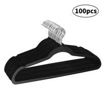 20/60/100pcs Velvet Clothes Hanger Suit/ Shirt/ Pants Hangers Hook Non Slip Storage Organize, Clothes Storage Hanger Racks