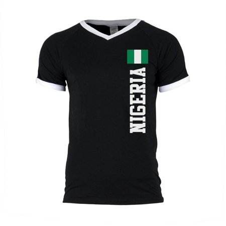 fce65921b Old Glory - World Cup Nigeria Mens Soccer Jersey V-Neck T-Shirt -  Walmart.com