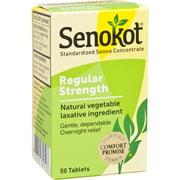 Senokot Regular Strength 50ct Tablets Natural Vegetable Laxative Ingredient.