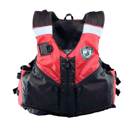 RhinoMaster Adult Life Vest for Watersports (Red) - Kayaking, Paddleboarding, Sailing, Canoeing - USCG Approved Type III Life Vest Type