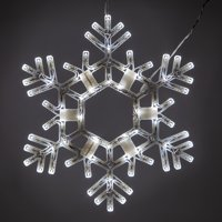 """Kringle Traditions 20"""" Cool White LED Christmas Snowflake Light, Fold-Flat Outdoor Lighted Snowflake"""