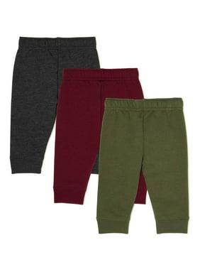 Garanimals Baby Boy Fleece Sweatpants, 3-Pack