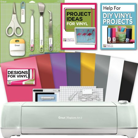 Cricut Explore Air 2 Machine Bundle   Tool Kit  Vinyl Pack  Designs Inspiration