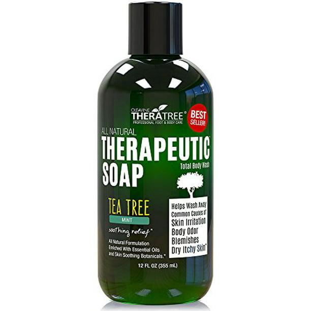 Antifungal Therapeutic Tea Tree Soap For Body By Theratree Walmart Com Walmart Com