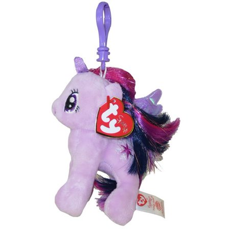 TY - TY Beanie Baby - PRINCESS TWILIGHT with Glitter Hairs (My Little Pony)  (Plastic Key Clip - 5 inch) - Walmart.com cc55f4b0136d