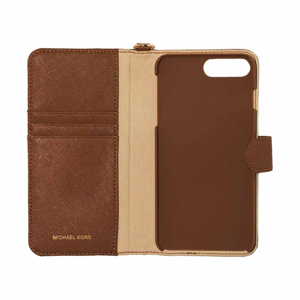 cc1cae78ebab Michael Kors Electronic Leather Folio Phone Case for iPhone 7 Plus   iPhone  8 Plus