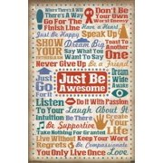 Just Be Awesome Laminated Poster Print (22 x 34)