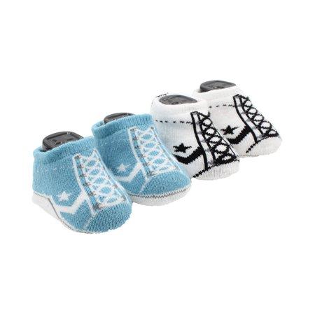 Converse One Star Infant Booties Socks-2 Pack (Shoreline Blue (C1M), 6-12