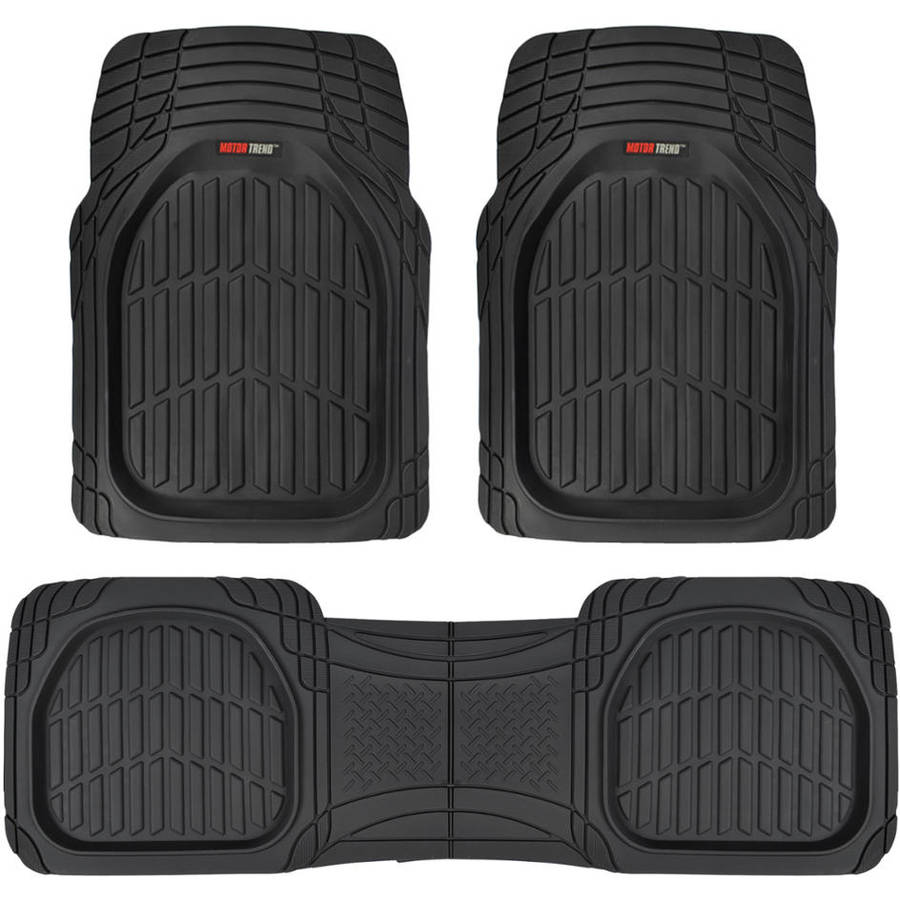 Motor Trend FlexTough Contour Liners, Heavy-Duty Deep Dish Rubber Floor Mats, (Odorless)