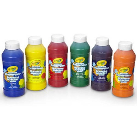 Crayola 8oz Washable Fingerpaints in Classic Colors, 6 Count