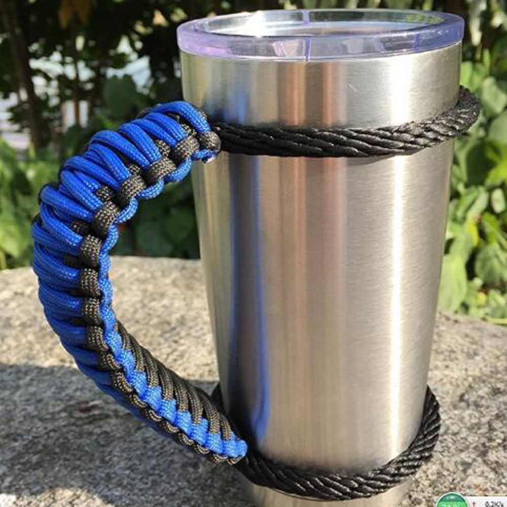 Paracord Handmade Handle For 30oz Yeti Ritc Ozark Tumbler Rambler Cup Holder BU