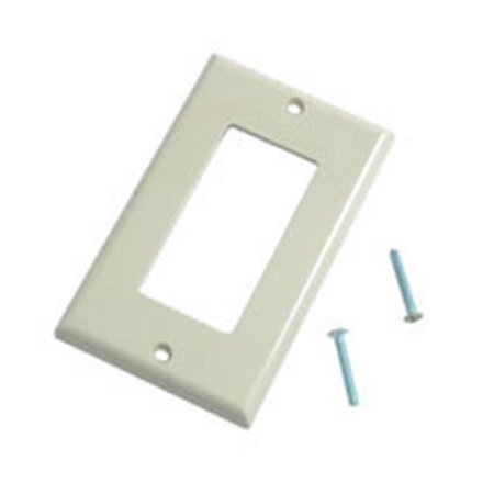 DECORATIVE SINGLE GANG WALL PLATE - IVORY