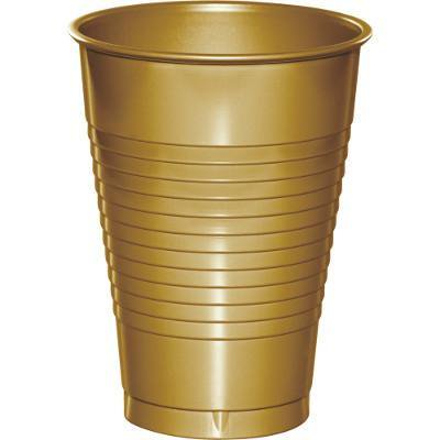 Creative Converting Glittering Gold 12 Oz Plastic Cups, 20 ct - 12 Oz To Cup