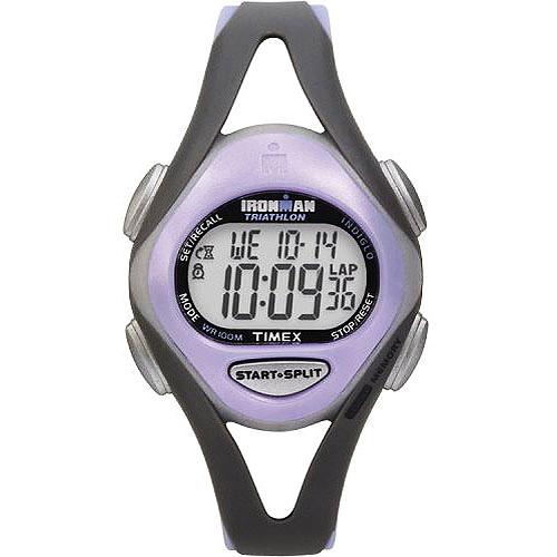 Timex Women's Ironman Sleek 50 Mid-Size Watch, Purple Resin Strap