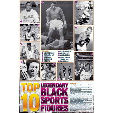 Legendary Black Sports Figures Educational Chart