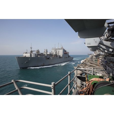 Military Sealift Command Ships - LAMINATED POSTER The Military Sealift Command dry cargo and ammunition ship USNS Alan Shepard (T-AKE-3) transits alon Poster Print 24 x 36