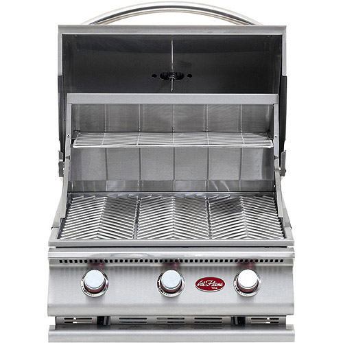 Gourmet Series 3-Burner Built-In Stainless Steel Gas Grill