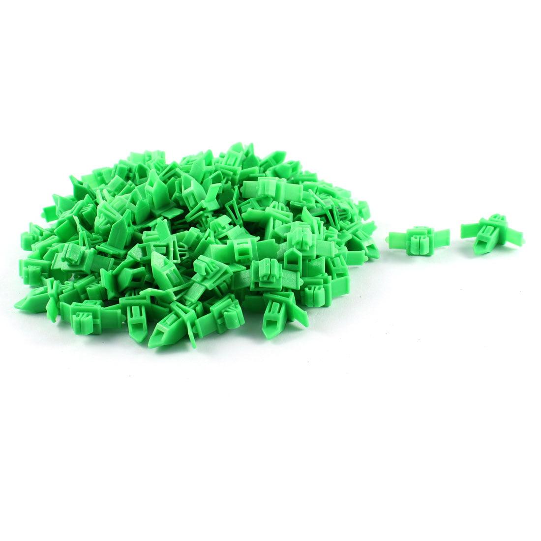 Unique Bargains 100 Pcs Green Plastic Splash Defender Interior Rivet Clip for Toyota