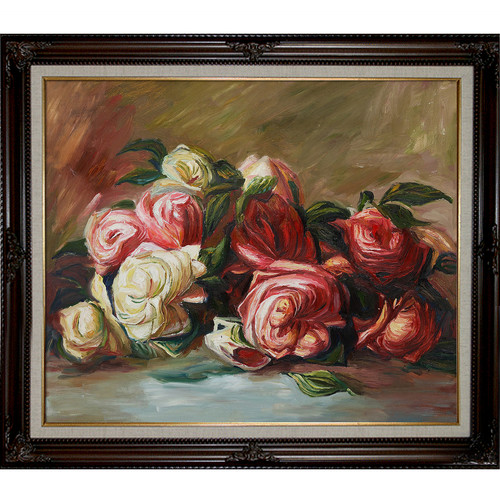Wildon Home Discarded Roses by Pierre Auguste Renoir Framed Painting