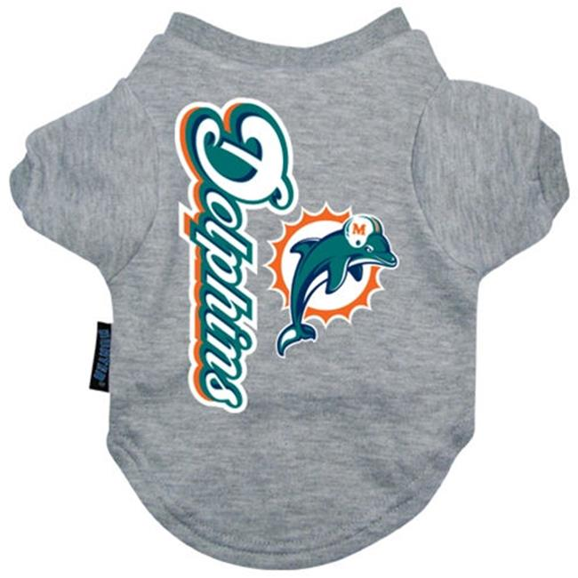 DoggieNation 716298779763 Xtra Large Miami Dolphins Dog Tee Shirt