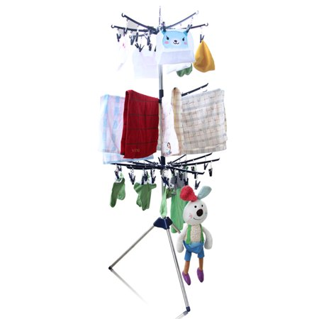 Collapsible Tripod Towel Drying Rack Stand Clothes Socks