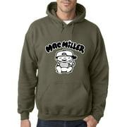 New Way 961 - Adult Hoodie Mac Miller RIP Rapper Hip-Hop Sweatshirt Medium Military Green