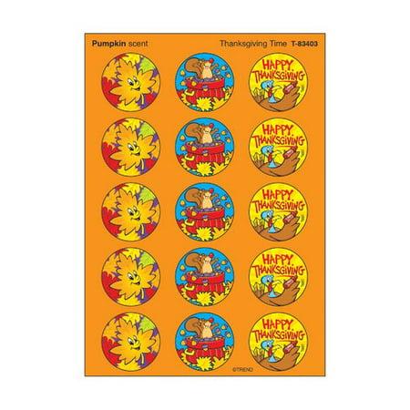 Trend Enterprises 60 Piece Stinky Thanksgiving Sticker Set