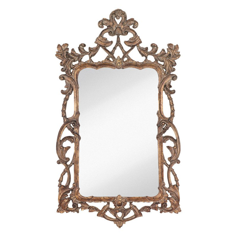 Majestic Traditional Rectangular Wall Mirror by