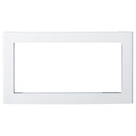 JX830DFWW 30 Deluxe Built-In Trim Kit for 1.0 cu. ft. Microwave Ovens  in White  30 deluxe built-in trim kit for 10 cu ft microwave ovens in WhiteApproximate Dimensions h x w in16-165 x 29-29875Net Weight80 lbApproximate Shipping Weight110 lb