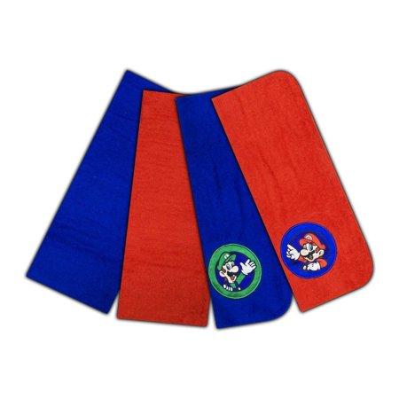 Nintendo Super Mario World The Game Continues Washcloth Set, 4-Pack - Super Mario Chess