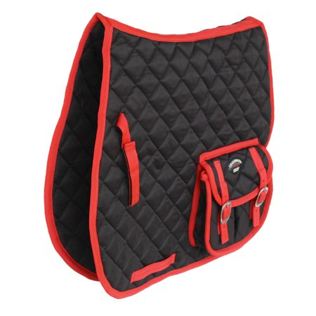 Horse English Quilted Contoured All Purpose Saddle Pad Pockets Red 72100 All Purpose English Saddle Pad