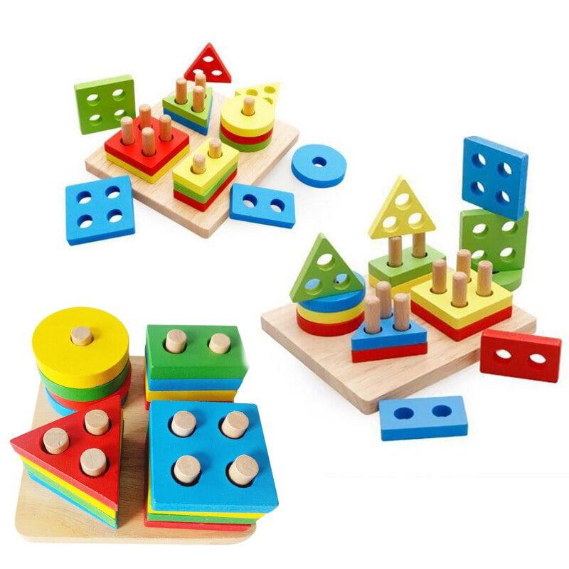 Wooden Educational Preschool Toddler Toys for 1 2 3 4 5 ...