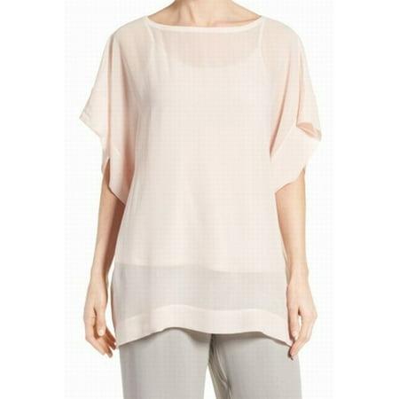 f5b59565f6dce Eileen Fisher - Eileen Fisher Womens Silk Dressy Tunic Top - Walmart ...