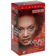 Clairol Textures & Tones  4RV Blazing Burgundy,  1 ea (Pack of 2)