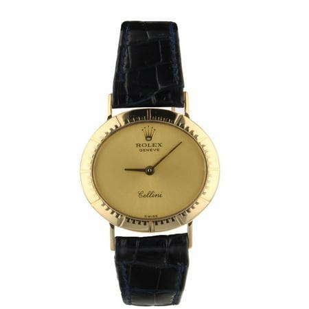 Rolex Cellini 4081 Gold Women Watch (Certified Authentic & Warranty)
