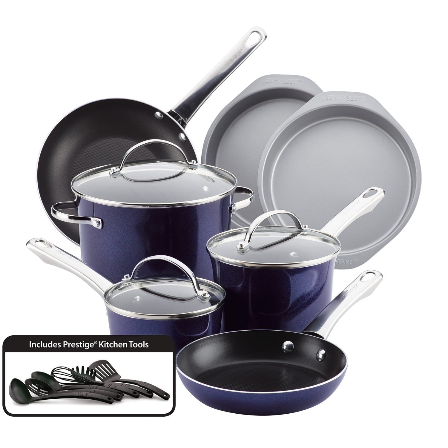 Farberware Luminescence Aluminum Nonstick Cookware Set, 16-Piece by Meyer Corporation