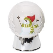 """Midwest-CBK Snowman Dome Projection LED Winter White 5"""" x 5"""" Acrylic Christmas Night Light"""