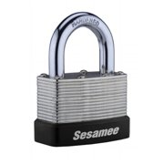 CCL Security 436L-PK36 4 Dial Resettable Combination Brass Padlock, 1 in. Hardened Steel Shackle
