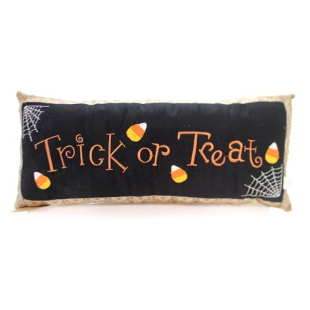 Halloween TRICK OR TREAT PILLOW Fabric Candy Corn Spider 31339](Halloween Spider Treats Make)