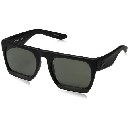 Dragon Alliance Fakie Polarized Sunglasses Black Frames with Smoke Lens (Dragon Lenses)