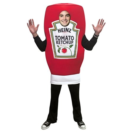 Homemade Wine Bottle Halloween Costume (Heinz Ketchup Squeeze Bottle Neutral Adult Halloween Costume, One Size,)