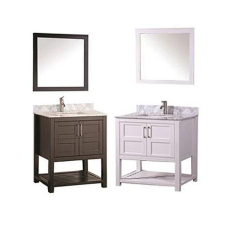 Mtd Vanities Norway 30 Inch Single Sink Bathroom Vanity Set With Mirror And Faucet Espresso
