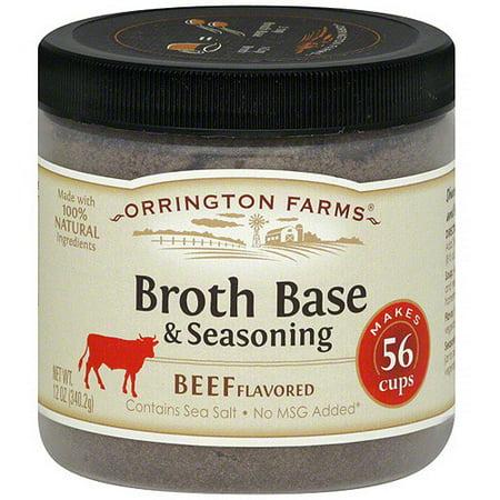 Flared Base - Orrington Farms Beef Flavored Broth Base & Seasoning, 12 oz (Pack of 6)